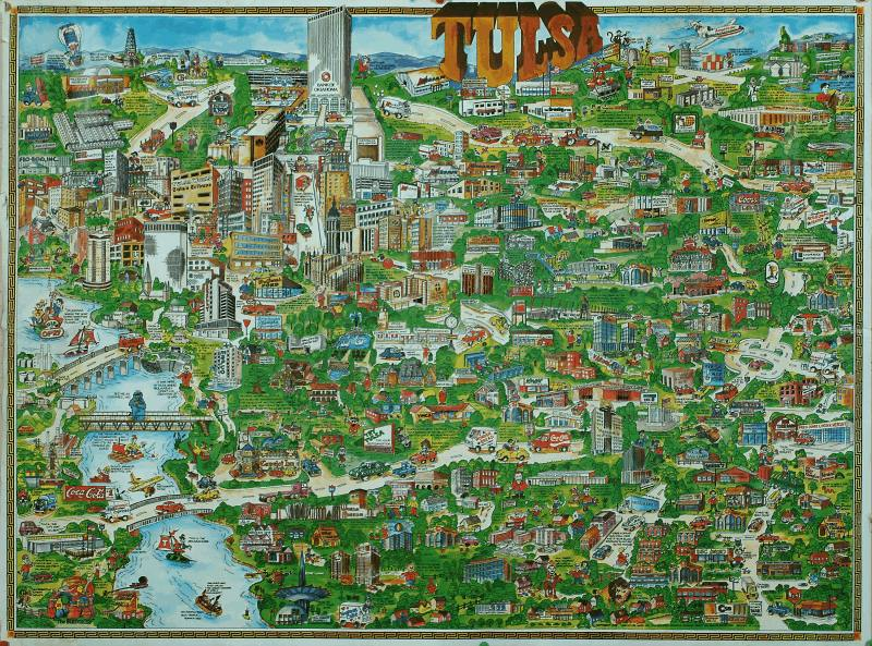 Promotional Map of Tulsa