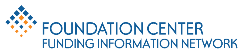 Logo in blue and orange colors that reads Foundation Center Funding Information Network