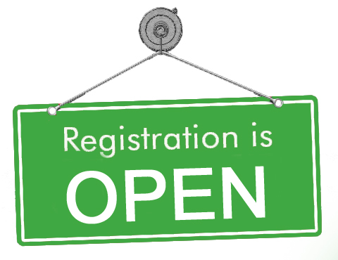 Registration is now open, sign