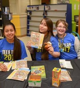 Teen Team volunteers at Martin Regional Library in 2017