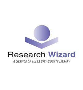 Research Wizard logo in purple and grey