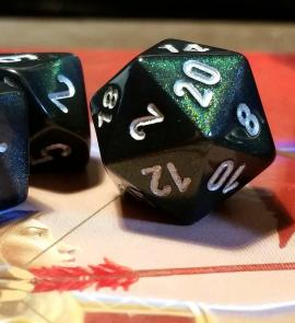 Image of tabletop rpg d20 dice