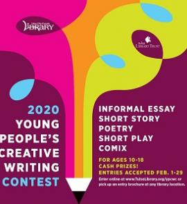 2020 Young People's Creative Writing Contest ad