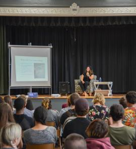 Teens listen to author Zoraida Cordova at school visit