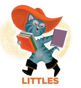 "Image of Puss in Boots and word ""Littles"""