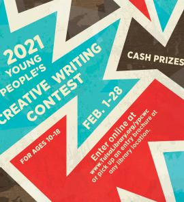 Promotional artwork for 2021 Young People's Creative Writing Contest
